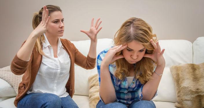 Kłótnia matki i córki