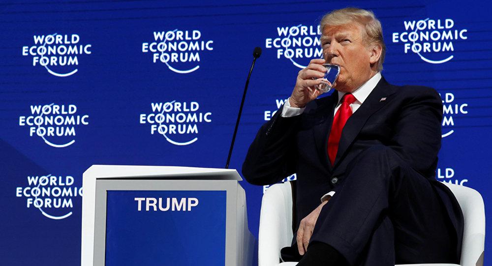 Donald Trump na forum w Davos