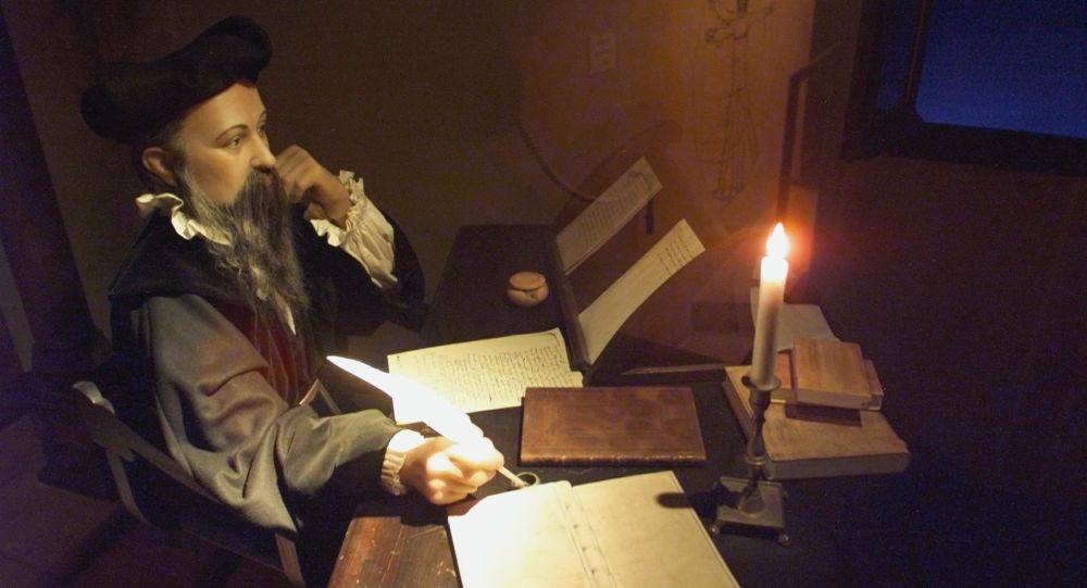 Manekin astrologa i alchemika Michela Nostradamusa