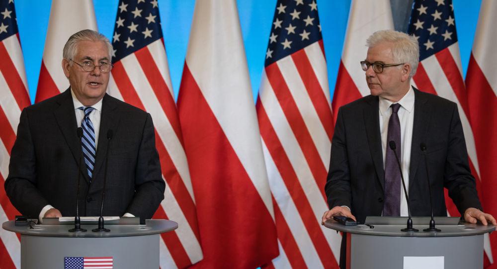 Rex Tillerson i Jacek Czaputowicz