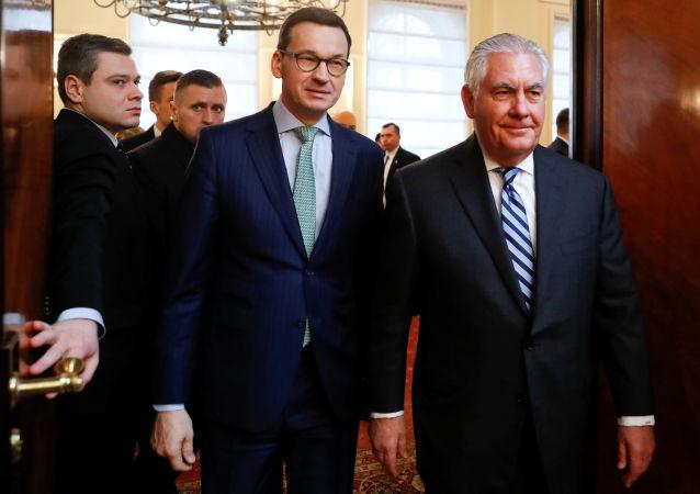 Rex Tillerson i Mateusz Morawiecki