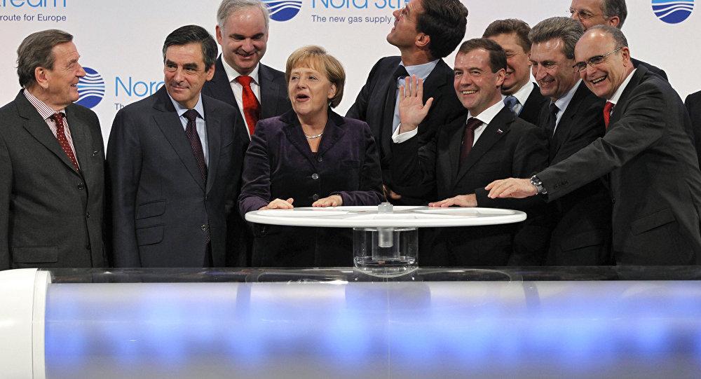 Ceremonia uruchomienia Nord Stream