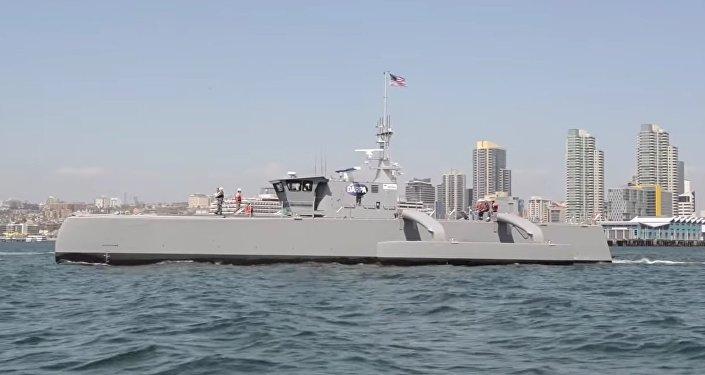 Autonomiczny kuter Sea Hunter zaprojektowany do wykrywania okrętów podwodnych przeciwnika