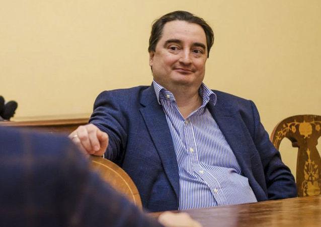 Redaktor naczelny ukraińskiego portalu strana.ua Ihor Hużwa