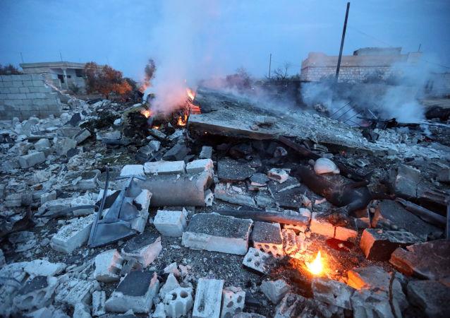 Zestrzelony rosyjski Su-25 w Syrii