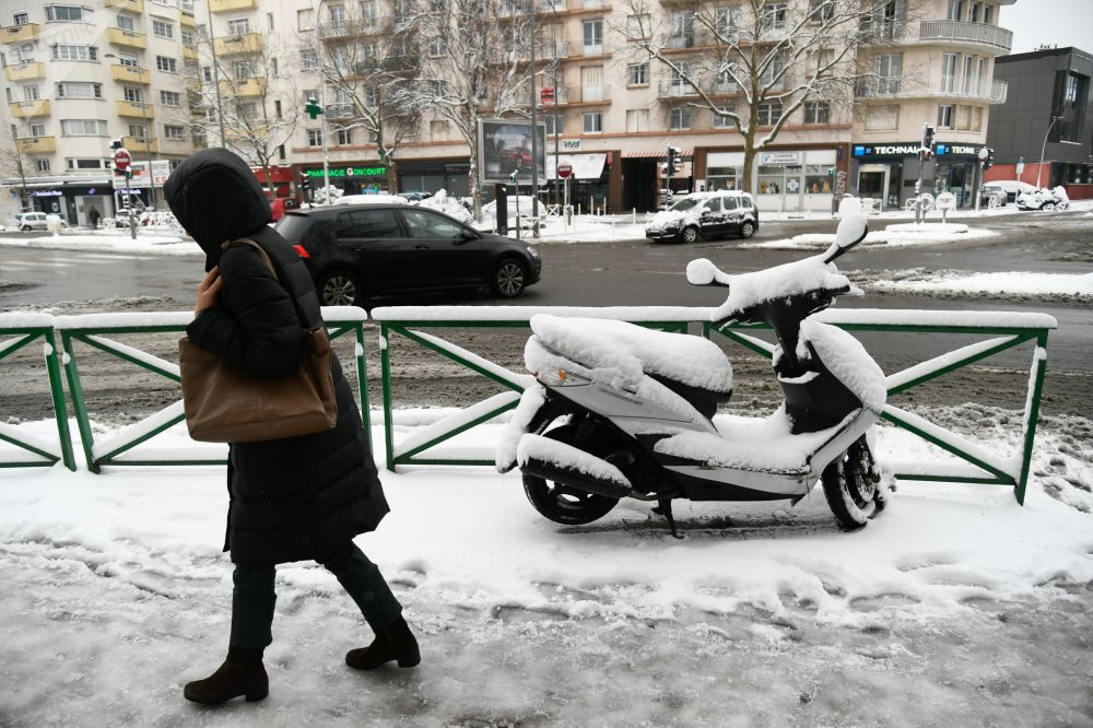 Paryż zimową porą...