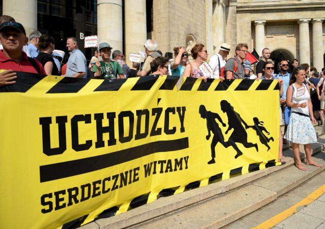 Akcja zwolenników przyjęcia przez Polskę uchodźców z Bliskiego Wschodu i Afryki Północnej w Warszawie