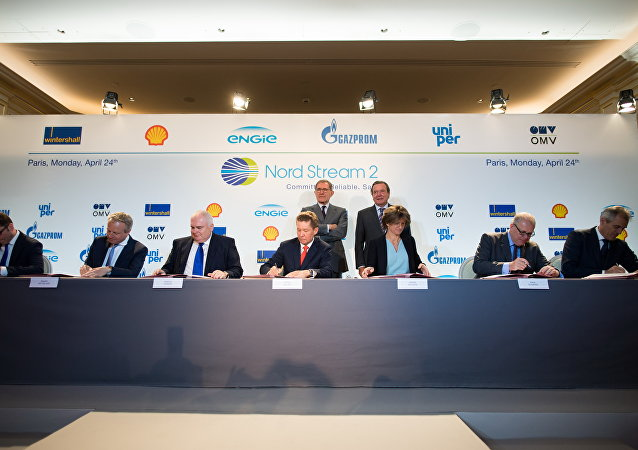 Przedstawiciele Wintershall Holding GmbH, Shell, Nord Stream 2 AG, Gazprom, ENGIE SA, Uniper SE i OMV AG