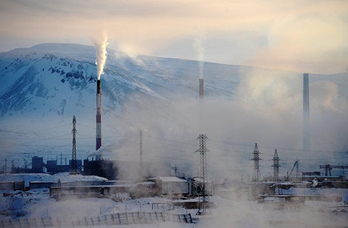 Strefa przemysłowa w Norylsku