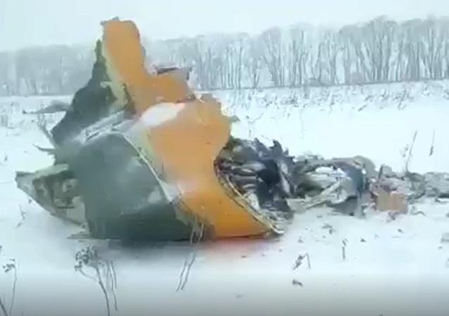 Miejsce katastrofy rosyjskiego samolotu An-148