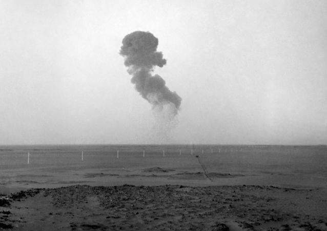 Próba atomowa w Reggane, Algieria