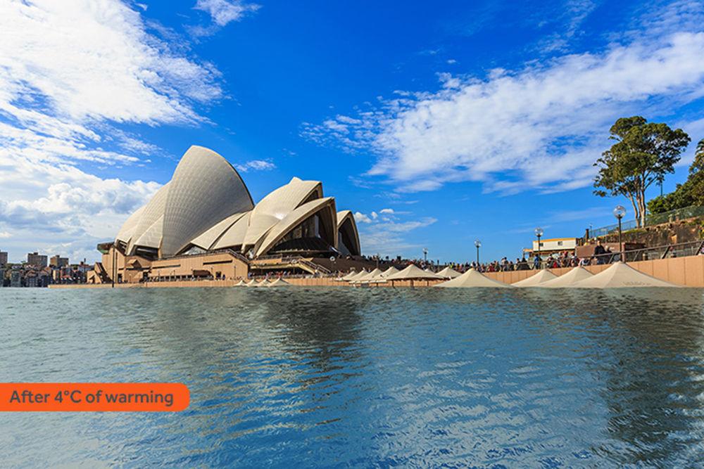 Jak wyglądałoby Sydney po zatopieniu w rezultacie globalnego ocieplenia