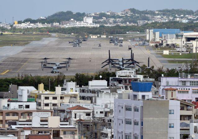 Stacja lotnicza piechoty morskiej Futenma w mieście Ginowan, Okinawa
