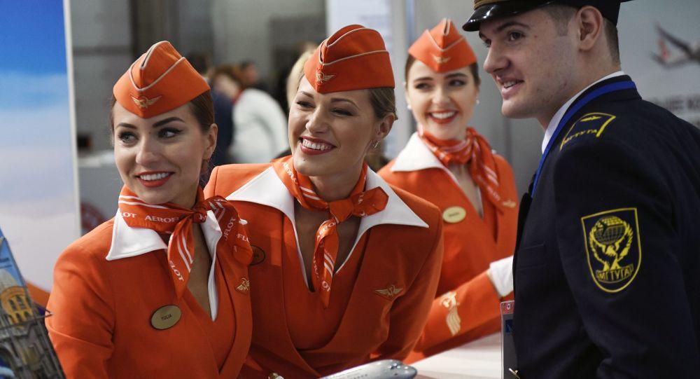 Pracownicy linii Aeroflot