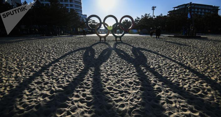 Symbol olimpijski w Gangneung