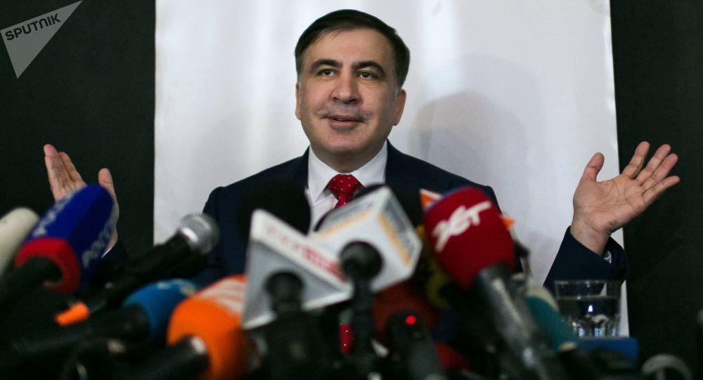 Michaił Saakaszwili w Warszawie
