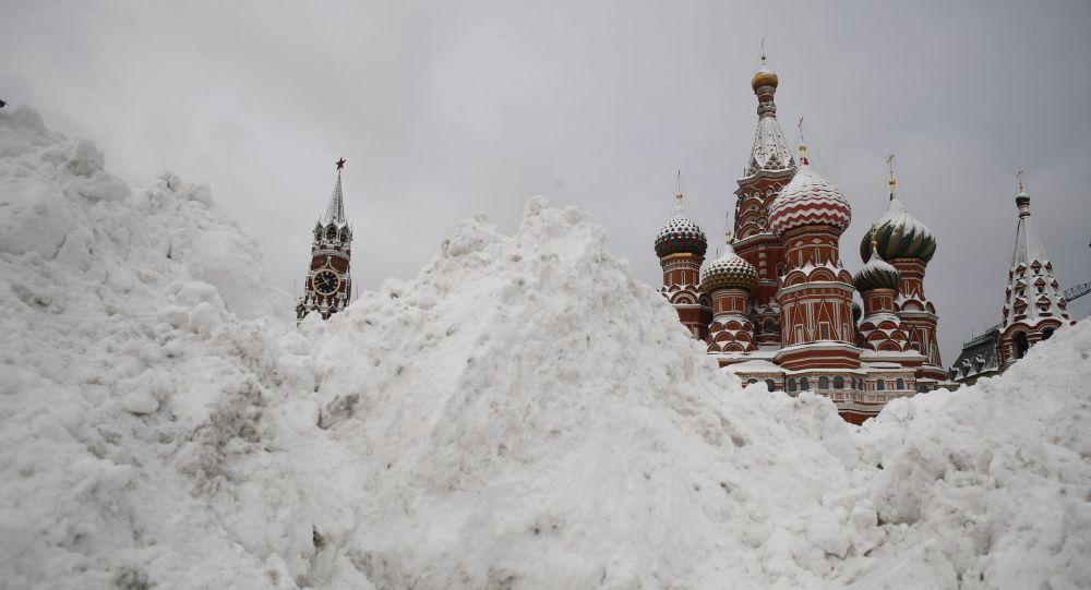 Śnieg na Placu Czerwonym