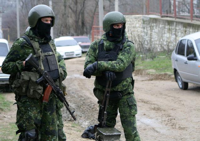 Pracownicy organów ścigania w Dagestanie. Zdjęcie archiwalne