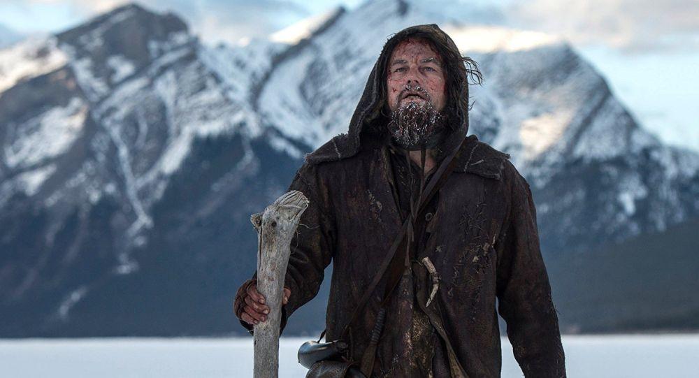 Leonardo Di Caprio podczas kręcenia filmu Zjawa