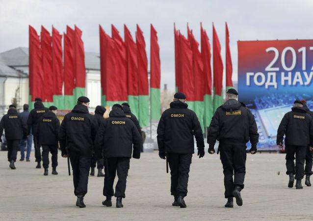 Białoruski OMON w Mińsku