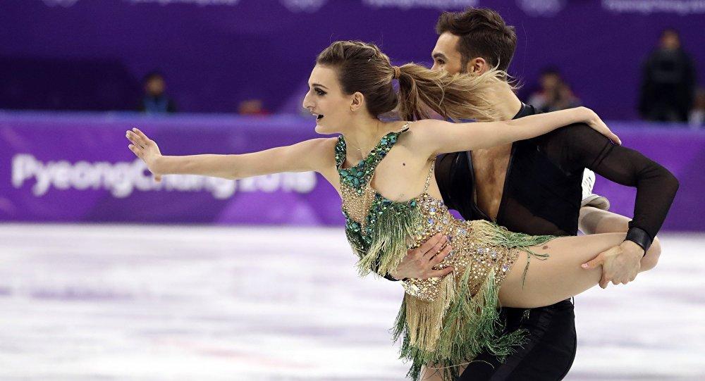 Łyżwiarze figurowi Gabriella Papadakis i Guillaum Cizeron na Igrzyskach Olimpijskich w Pjongczangu 2018