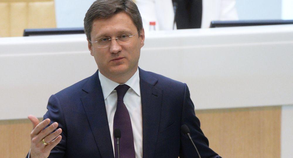 Minister energetyki Rosji Aleksander Nowak na posiedzeniu Rady Federacji FR
