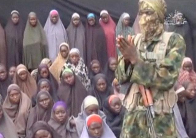 Kadr z nagrania Boko Haram