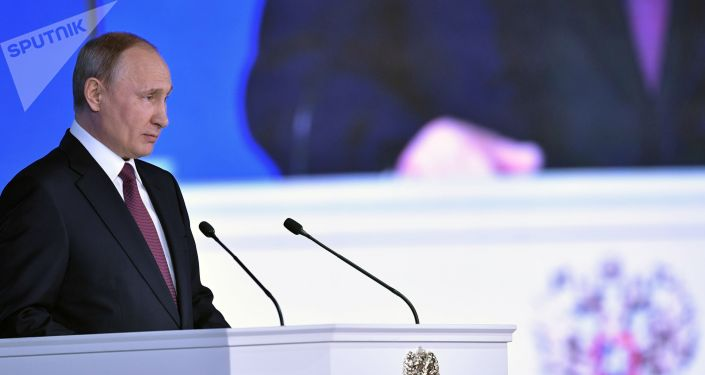 Prezydent Rosji Władimir Putin występuje z corocznym orędziem do Zgromadzenia Federalnego