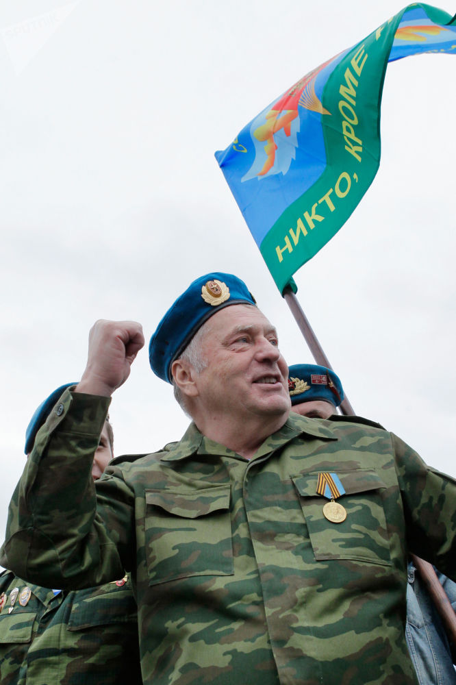 Władimir Żyrinowski na uroczystościach na Placu Czerwonym