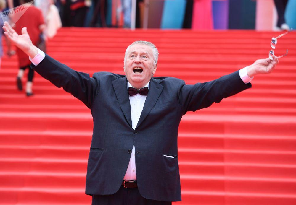 Władimir Żyrinowski na ceremonii zakończenia 39. Moskiewskeigo Międzynarodowego Festiwalu Filmowego