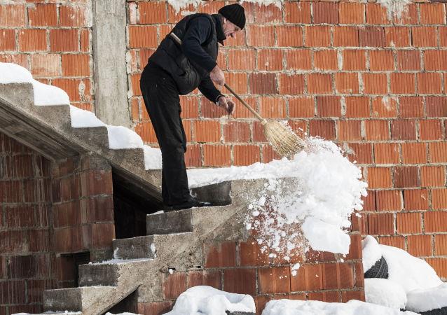 Śniegospady w Serbii