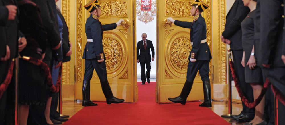 Prezydent Władimir Putin w Wielkim Pałacu Kremlowskim, 2012 rok