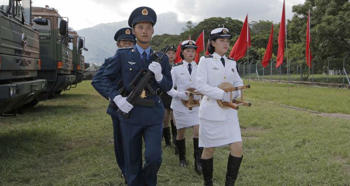 Chińscy wojskowi. Zdjęcie archiwalne