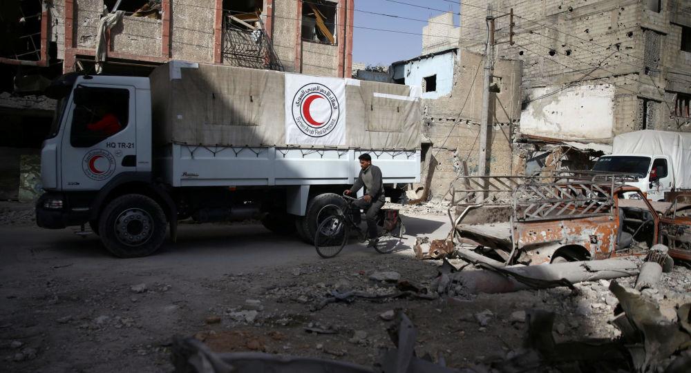 Pomoc humanitarna we Wschodniej Gucie, Syria