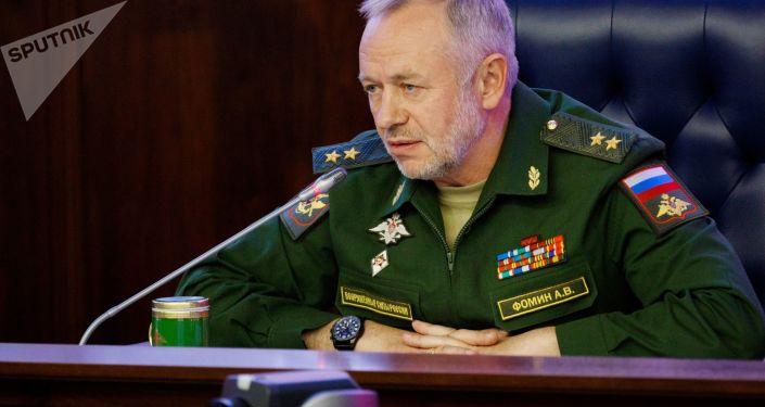 Wiceminister obrony Federacji Rosyjskiej Aleksander Fomin. Zdjęcie archiwalne