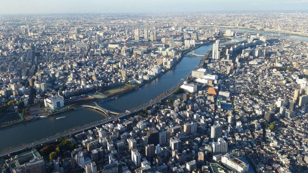 Sumida – jedna z głównych rzek, Tokio