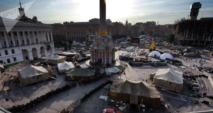 Plac Niezałeżnosti podczas Majdanu
