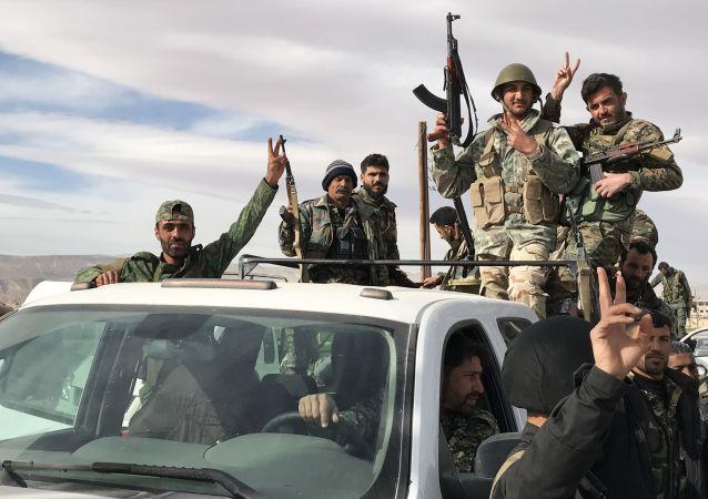 Syryjscy wojskowi we Wschodniej Gucie