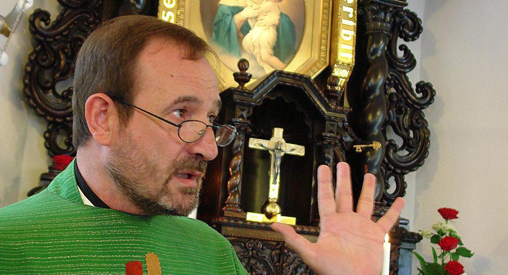 Ojciec Jose María Vegas, egzorcysta moskiewskiej diecezji katolickiej.