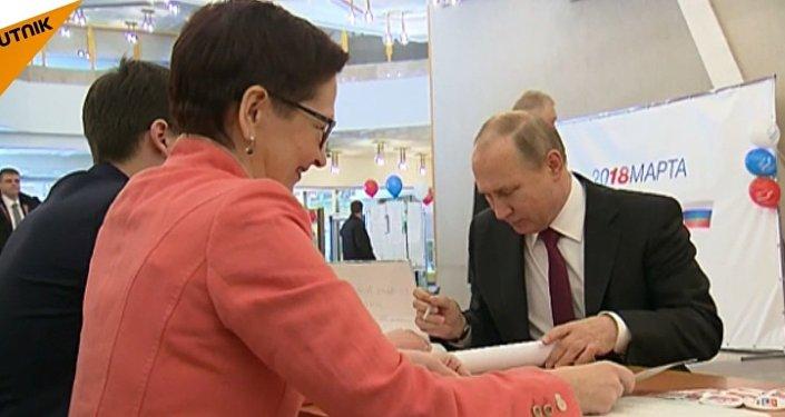 Putin głosuje
