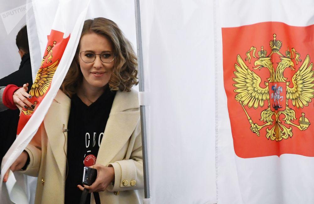 Kandydatka na prezydenta Rosji Ksenia Sobczak
