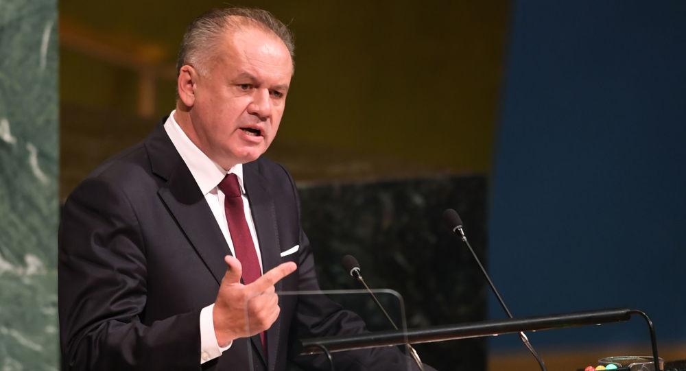 Prezydent Słowacji Andrej Kiska występuje na Zgromadzeniu Ogólnym ONZ w Nowym Jorku