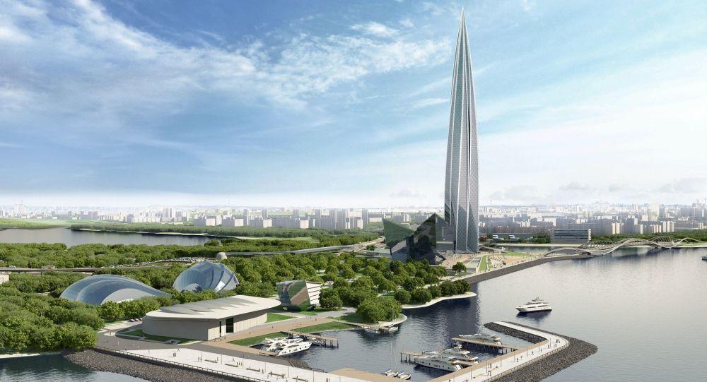 Projekt centrum wielofunkcyjnego Łachta centr w Petersburgu