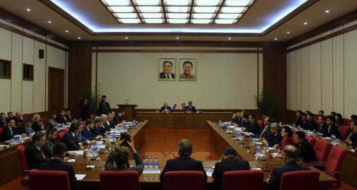 Posiedzenie Międzyrządowej Komisji ds. Współpracy Handlowo-Gospodarczej i Naukowo-Technicznej między Federacją Rosyjską a KRLD w Pjongjangu