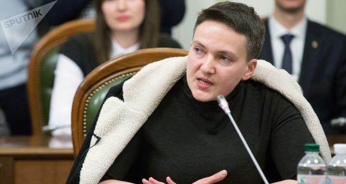Pozafrakcyjna deputowana Nadieżda Sawczenko