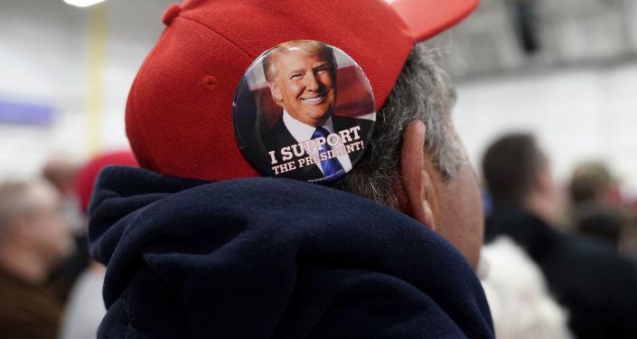 Zwolennik prezydenta USA Donalda Trumpa