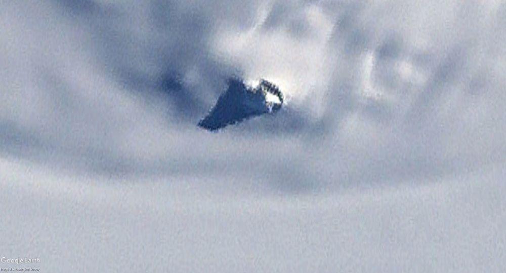 Obiekt odkryty na mapie Antarktydy w Google Earth