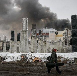 Pożar centrum handlowego w Kemerowie