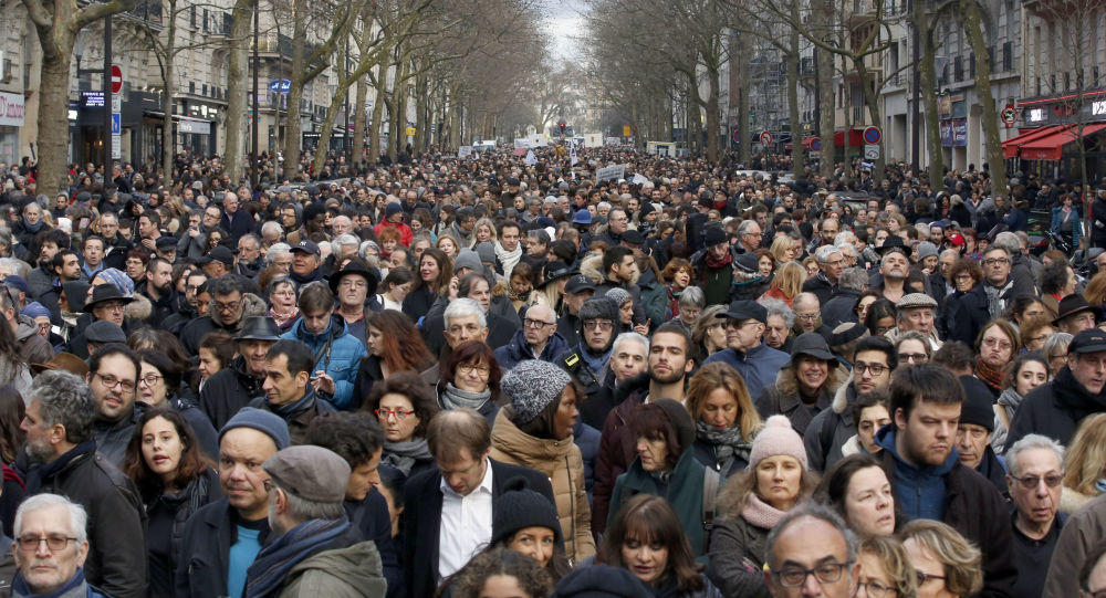 Biały marsz w Paryżu
