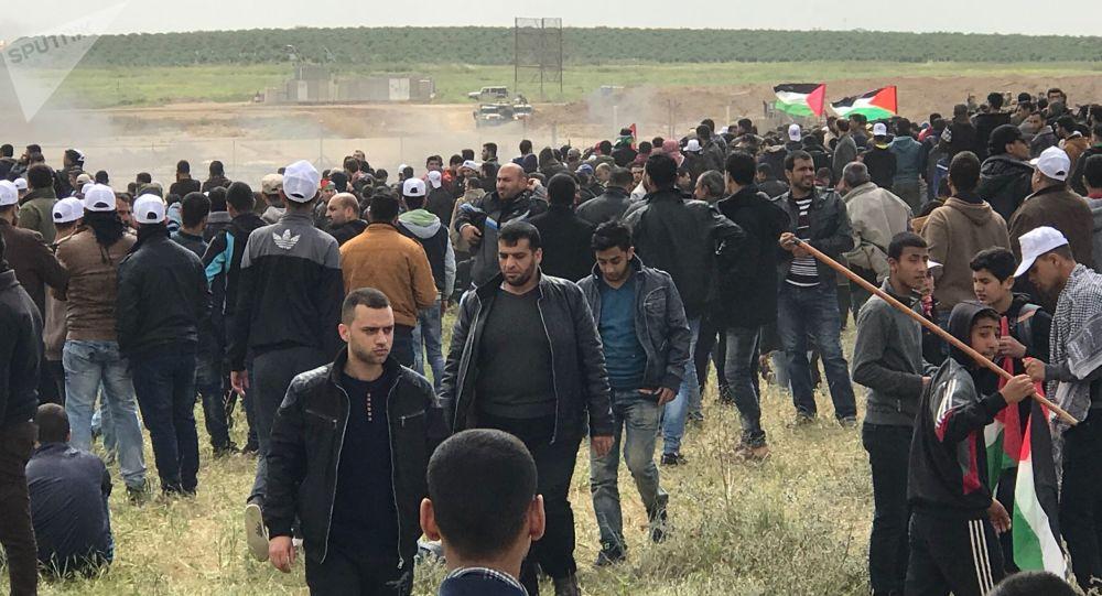 Akcje protestu na granicy między sektorem Gaza i Izraelem